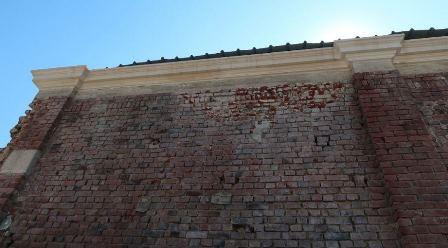Un mur extérieur avant rénovation