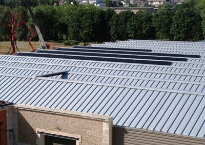 Pose terminée des panneaux photovoltaïques